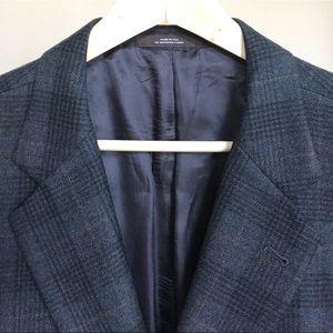 Joseph Abboud Tweed Wool Plaid Sport Coat 50L